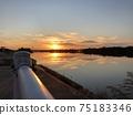Yodo River reflecting the setting sun 75183346