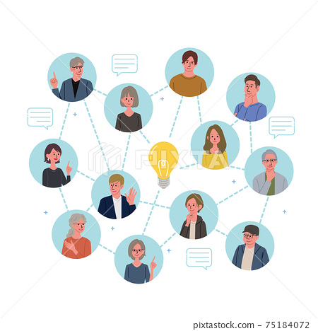 IT communication business concept illustrations of people and ideas 75184072