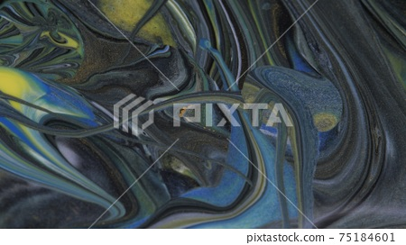Abstract colorful background of spreading colors. Abstract dark paint background. 75184601