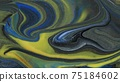 Abstract colorful background of spreading colors. Abstract dark paint background. 75184602