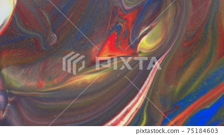 Abstract colorful background of spreading colors. Abstract red paint background. 75184603