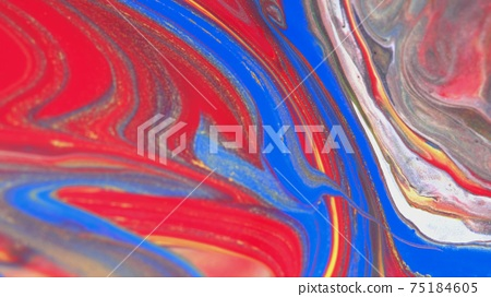 Abstract colorful background of spreading colors. Abstract red paint background. 75184605