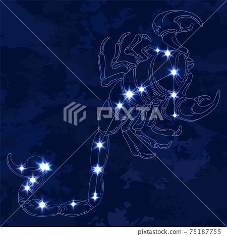 88星座系列B-星座圖和星座線-天蠍座 75187755