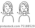 Female bust up face variation troubled 75188529