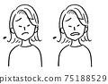 女性半身像變臉困擾 75188529