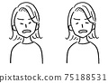 Female bust up face variation get angry 75188531