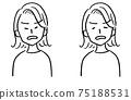 女性胸圍變臉生氣 75188531