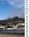 野火災害防災自然災害火煙關東足利市燃燒 75201423