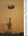 CH-47支努幹直升機地面自衛隊災難派遣滅火桶野火灑水排放 75201438
