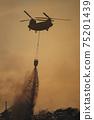 CH-47支努幹直升機地面自衛隊災難派遣滅火桶野火灑水排放 75201439