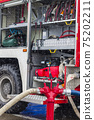fire truck equipment and well with hydrant 75202211
