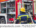 fire truck equipment and fireman 75202247