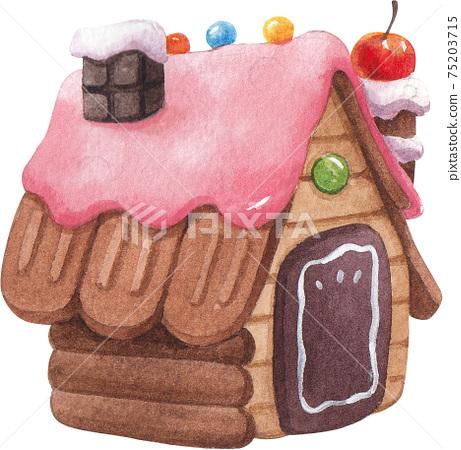 Candy Land concept watercolor element 75203715