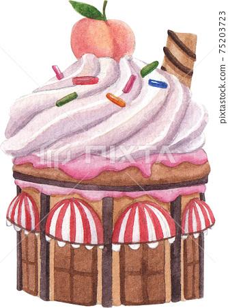 Candy Land concept watercolor element 75203723