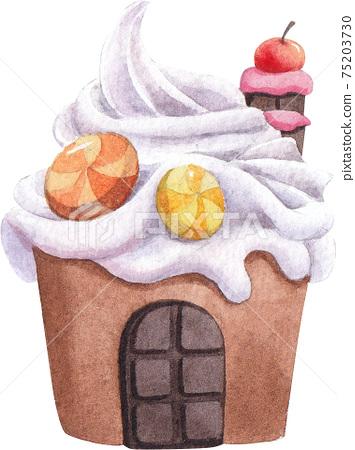 Candy Land concept watercolor element 75203730