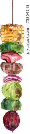 Spain Cruisine food concept watercolor element 75204145