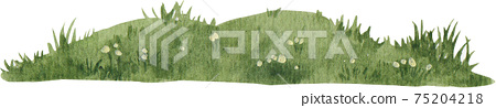 green grass landscap view watercolor 75204218