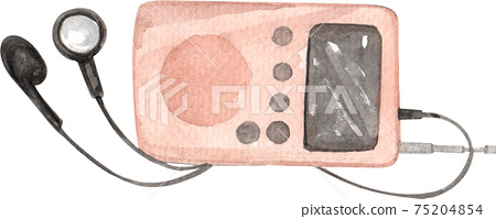 World Radio day concept watercolor element 75204854