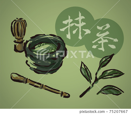 茶道(抹茶和茶葉) 75207667