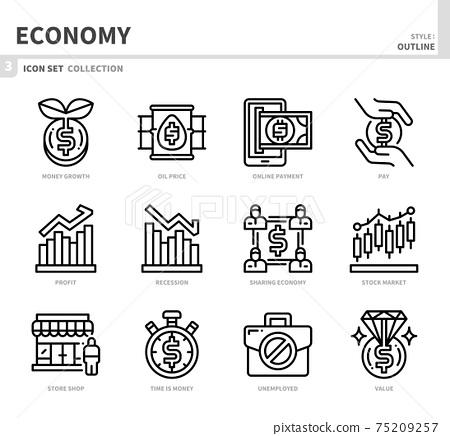 economy icon set 75209257