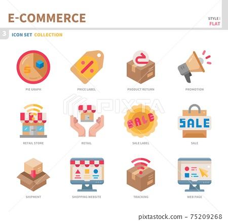 e-commerce icon set 75209268