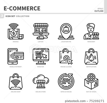 e-commerce icon set 75209271