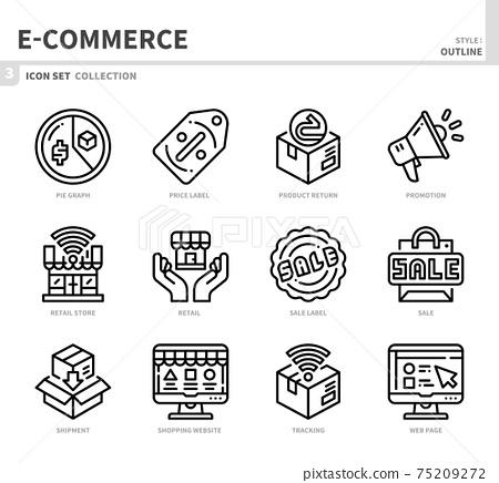 e-commerce icon set 75209272