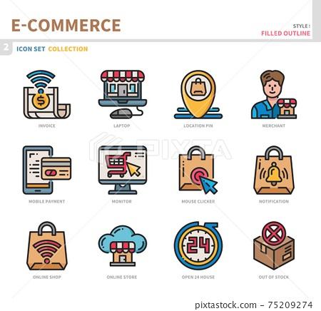 e-commerce icon set 75209274