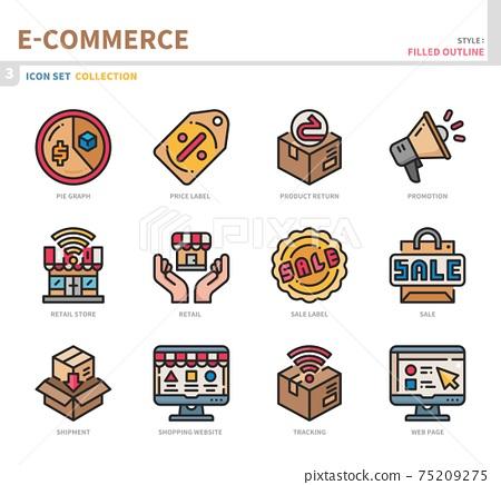 e-commerce icon set 75209275