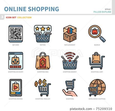 online shopping icon set 75209310