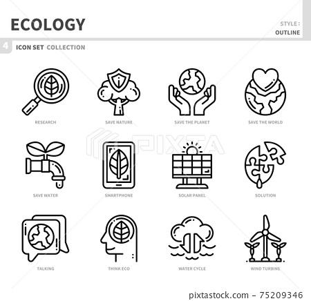 ecology icon set 75209346