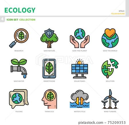 ecology icon set 75209353