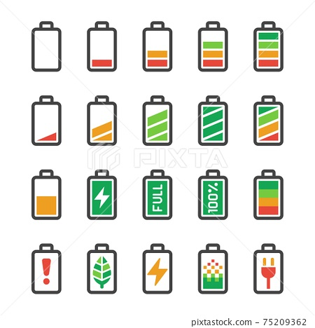 battery icon set 75209362