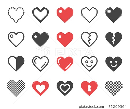 heart icon set 75209364