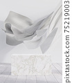 White marble display stand 3d render 75219003