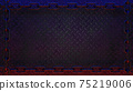 Black metal diamond plate background 3d render 75219006