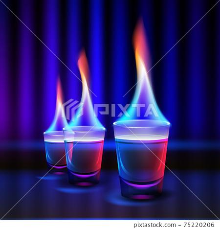 Burning alcohol shots 75220206