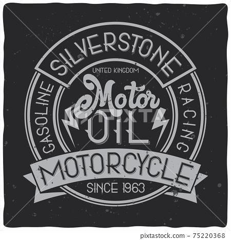 Vintage label design with lettering composition on dark background. T-shirt design. 75220368