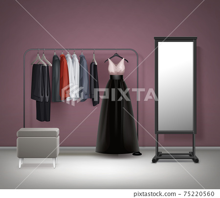 Vector Cloakroom interior front view 75220560