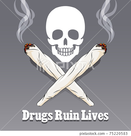 Vector anti drug poster 75220583