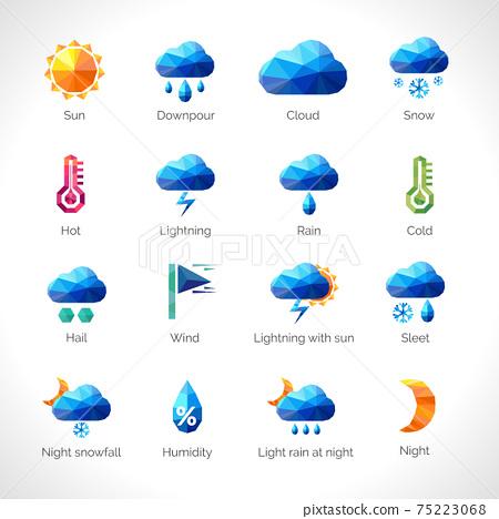 Weather Polygonal Icons 75223068