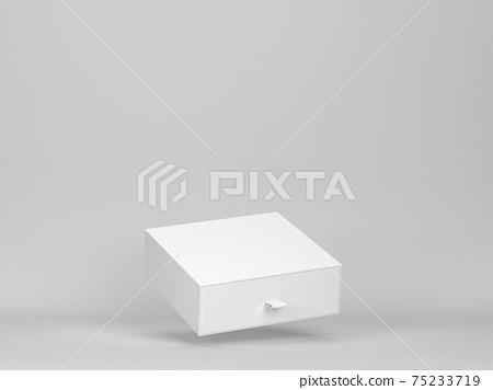 Blank drawer box mockup 75233719