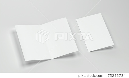 Blank booklet or brochure a4 bifolded mockup 75233724