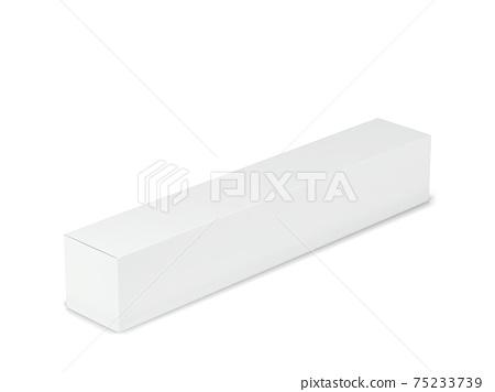 Blank cardboard box mockup 75233739