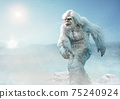 Yeti or abominable snowman 3D illustration	 75240924