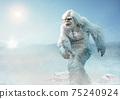 Yeti or abominable snowman 3D illustration 75240924