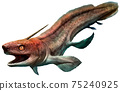 Xenacanthus from the Triassic era 3D illustration 75240925
