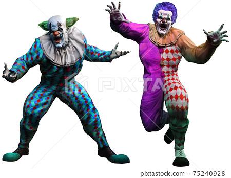 3d, clown, horror 75240928