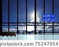 機場離港碼頭飛機藍色的天空 75247054