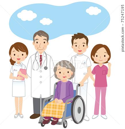 개호 노인과 병원 관계의 사람들 75247195
